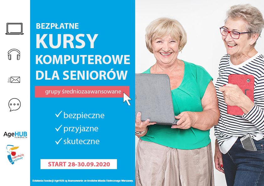 AgeHUB zaprasza: Bezpłatne kursy komputerowe dla seniorów
