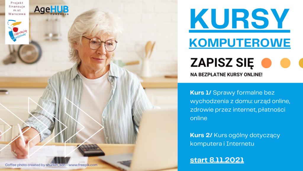 Dwa bardzo przydatne kursy online dla seniorów: sprawy urzędowe + zdrowie ikurs ogólny